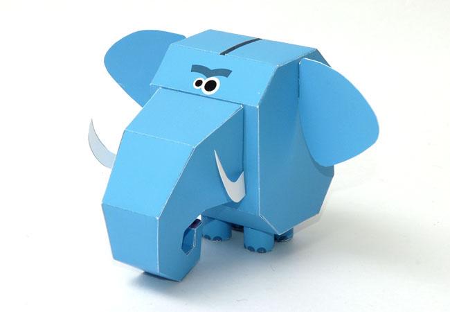 q版 kuso 动物纸模型 - mychat 数位男女_3d纸模型