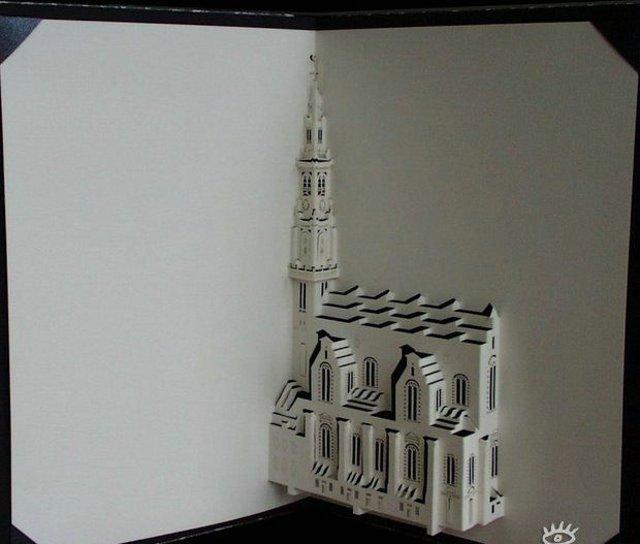 开合式立体纸雕教程